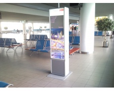 Unique advertising campaign of Recharging Stations on airports for the ABB Group