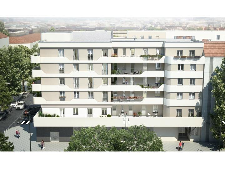 Modernes Wohnensemble am Berliner Steglitzer Damm