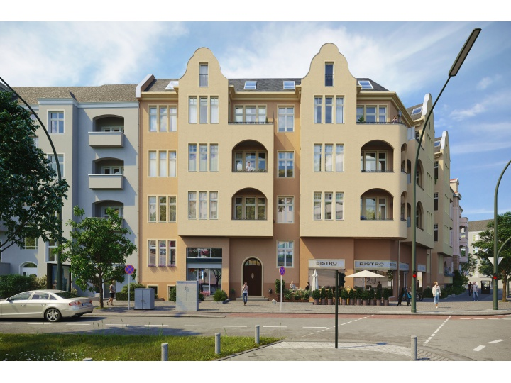 Visualizations for noble old building in the Bismarckviertel of Berlin-Steglitz